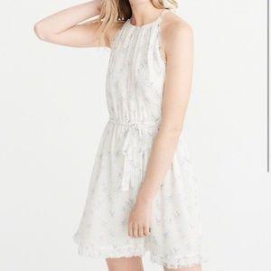 Abercrombie High Neck Chiffon Dress